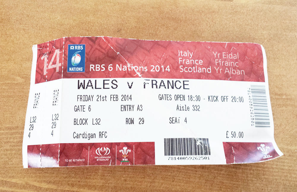 Rugby Ticket