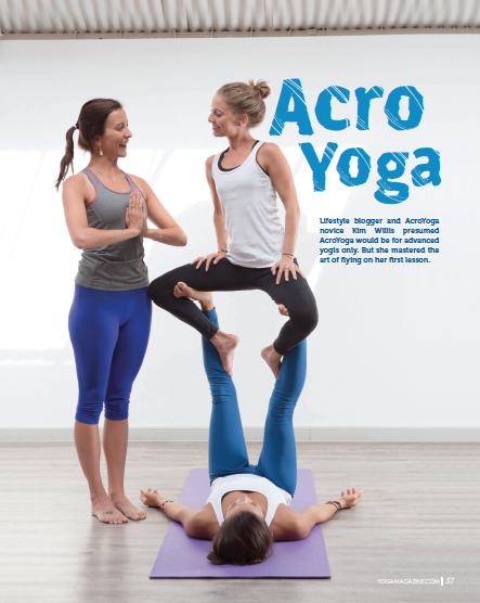 My silly little happy face, as featured in Yoga Magazine